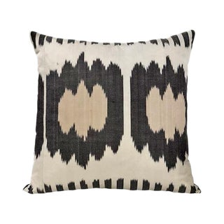 Kim Salmela Modern Turkish Silk Ikat Throw Pillow For Sale