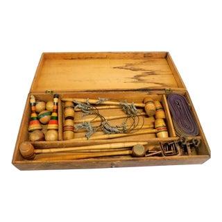 Antique Mini Croquet Set For Sale