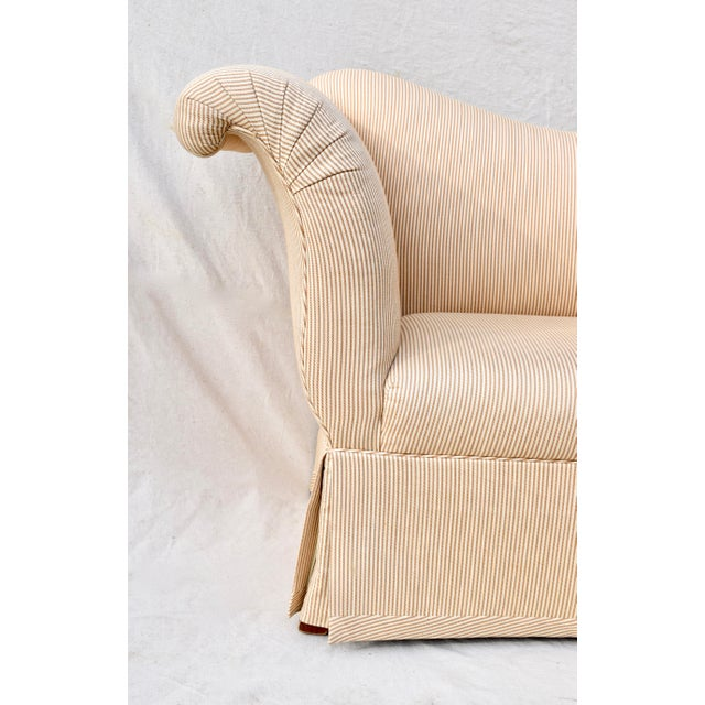 Modern Baker Scroll Arm Settee or Bench For Sale - Image 3 of 11
