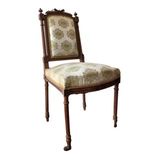 19th Century Walnut Louis XVI Style Chaise a La Reine For Sale