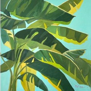 """Banana Trees"" Contemporary Botanical Oil Painting by Susie Callahan For Sale"