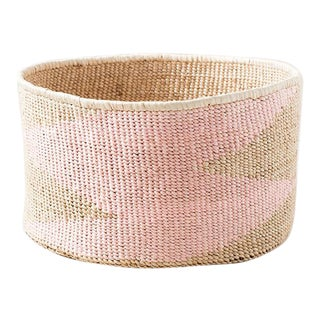 Pink Banana Floor Leaf Basket For Sale