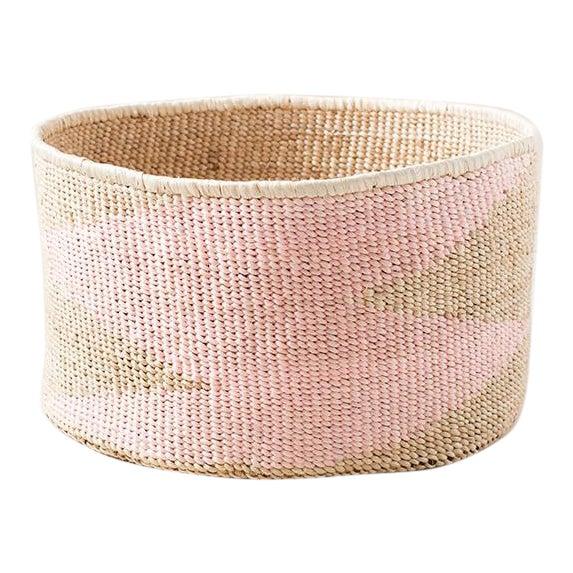 Pink Banana Floor Leaf Basket For Sale