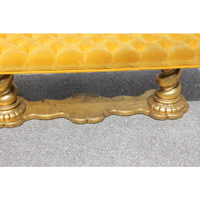 1900s Vintage French Louis XIII Barley Twist Bench For Sale - Image 10 of 13
