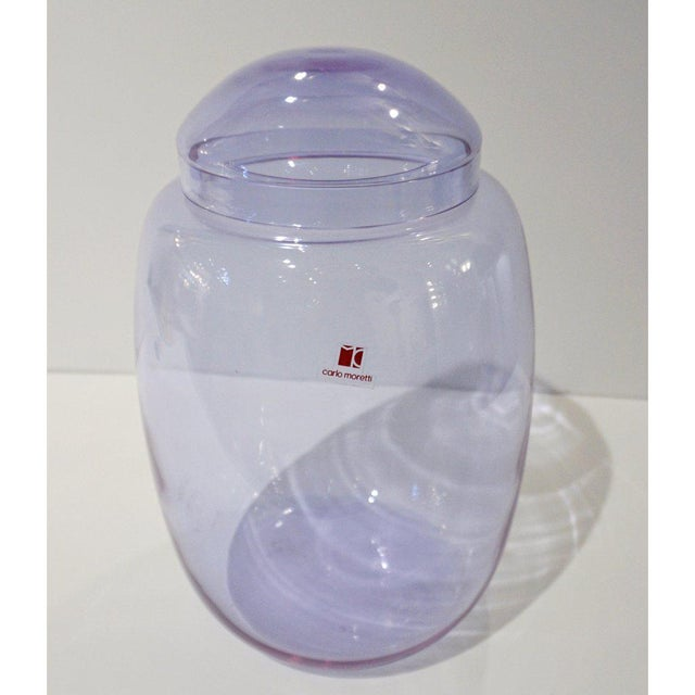 1980s Vintage Carlo Moretti 1980s Alexandrite Purple Blue Murano Crystal Glass Urn For Sale - Image 5 of 11