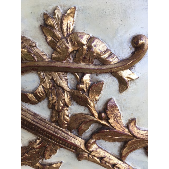 19th Century Hand Painted & Gold Leaf French Trumeau Pier Mirror For Sale In Monterey, CA - Image 6 of 9