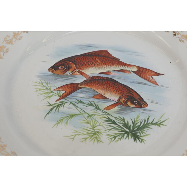 Mid 20th Century Set of Twelve Digoin and Sarreguemines Fish Plates For Sale - Image 5 of 9