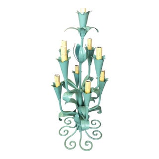 1930s Victorian Style Toile Candelabra Lamp For Sale
