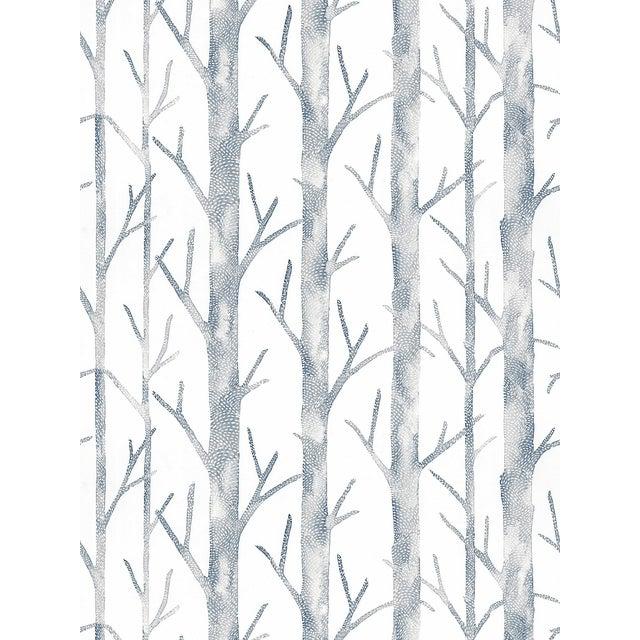Transitional Scalamandre Everett Wallpaper, Ink Blue, 8 Yards For Sale - Image 3 of 3