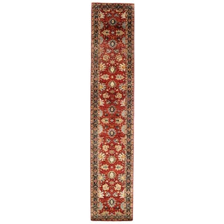 """Traditional Pasargad N Y Fine Serapi Design Hand-Knotted Rug - 2'8"""" X 13'9"""""""