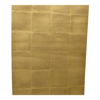 Schumacher Wallpaper Komoro Square in Gold For Sale