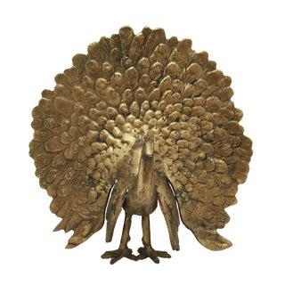 Vintage Brass Peacock Figurine For Sale