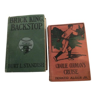 Pair of Brick King Backstop and Charlie Codman's Cruise Vintage Books For Sale