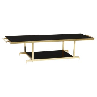 James Mont Chinoiserie Brass Coffee Table For Sale