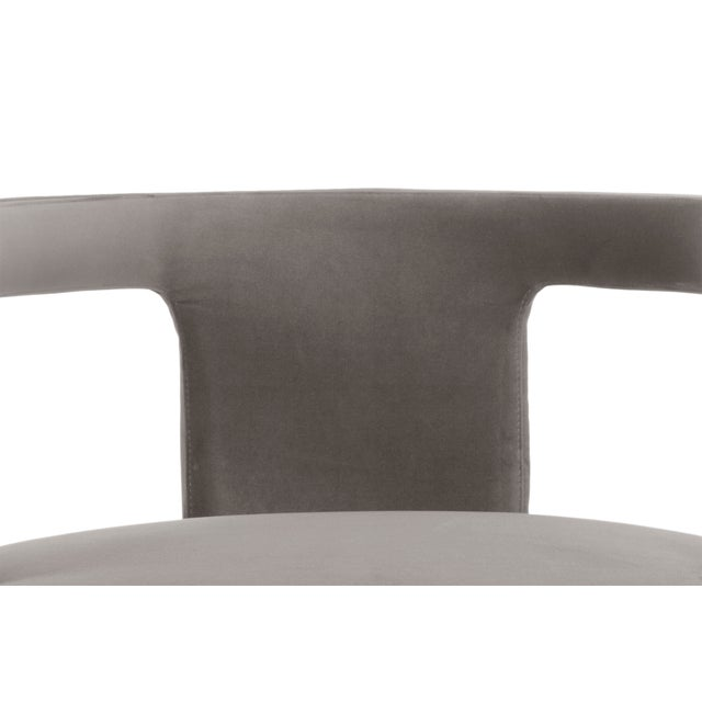 Skylar Accent Chair, Mouse Grey For Sale - Image 4 of 6