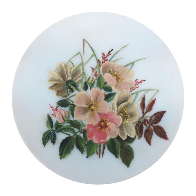 Hand-Painted Pink Floral Charger - Image 1 of 4