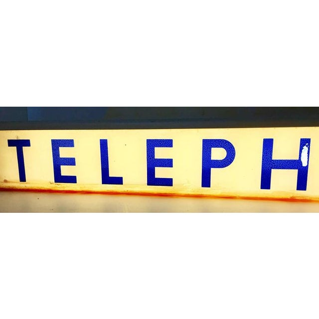 1930s Western Electrical Co. Telephone Booth Light Box Sign - Image 5 of 9