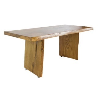 Calabria Live Edge Solid Oak Slab Coffee Table For Sale