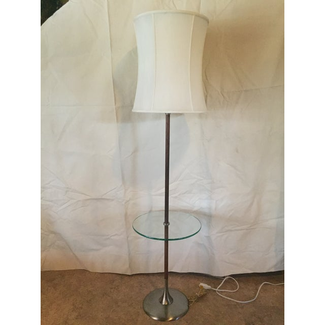 Metal 1960s Iconic Tulip Base Walnut Floor Lamp For Sale - Image 7 of 12