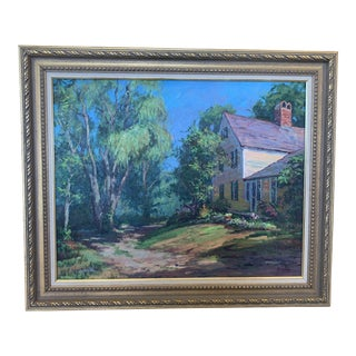 """1970s Realist Oil on Canvas Painting Titled """"The Homestead"""" - 24x30 For Sale"""