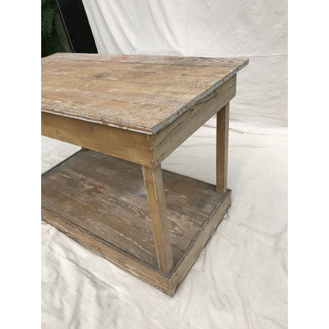 Antique Southern Primitive Work Tables - a Pair For Sale - Image 6 of 13