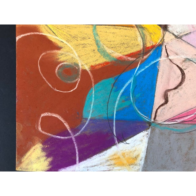 Abstraction no.107 original Pastel on Paper by Erik Sulander 14x12, Signed, unframed.