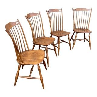 e.r. Buck Windsor Chairs Set of 4 For Sale