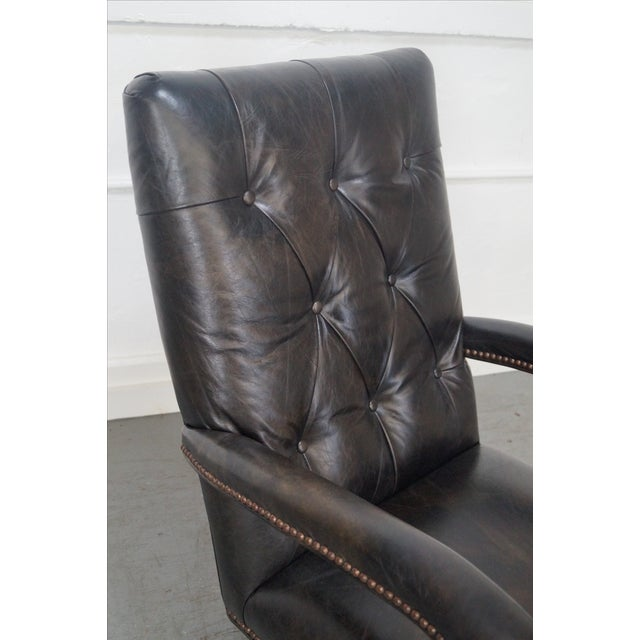 Tufted Leather Executive Office Arm Chair - Image 7 of 8