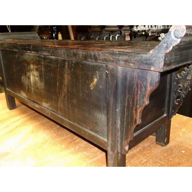 Asian Chinese Altar Coffer Cabinet For Sale - Image 10 of 11