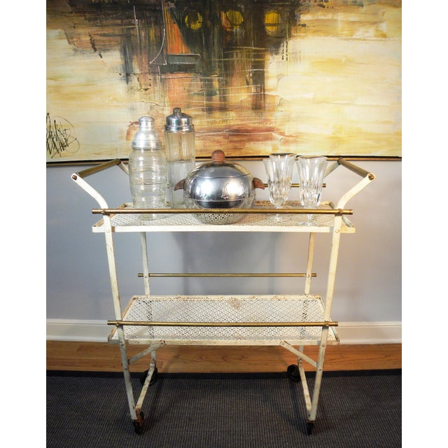 Vintage Mid-Century Folding Bar Cart - Image 5 of 6