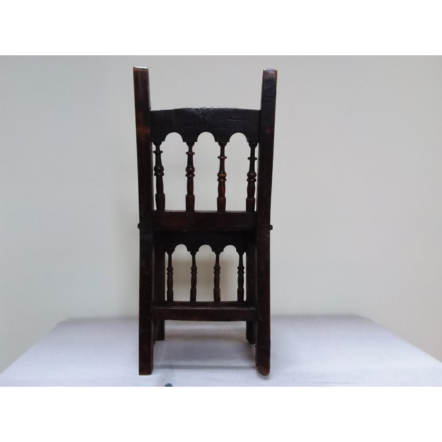 Farmhouse Colonial Style Side Chair For Sale - Image 3 of 3