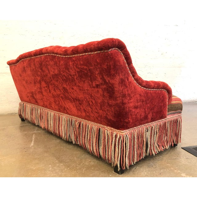 Custom Made Sofa in Vintage Flat Woven Kilim For Sale - Image 4 of 11