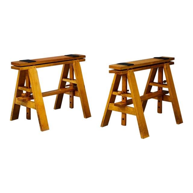 Pair of MidCentury Easels for Leonardo Table by Achille Castiglioni for Zanotta For Sale