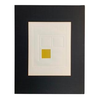 1970s Mid Century Modern Geometric Print For Sale