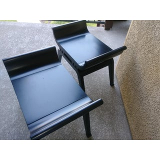 Mid Century Modern James Mont Inspired Low Benches - A Pair Preview