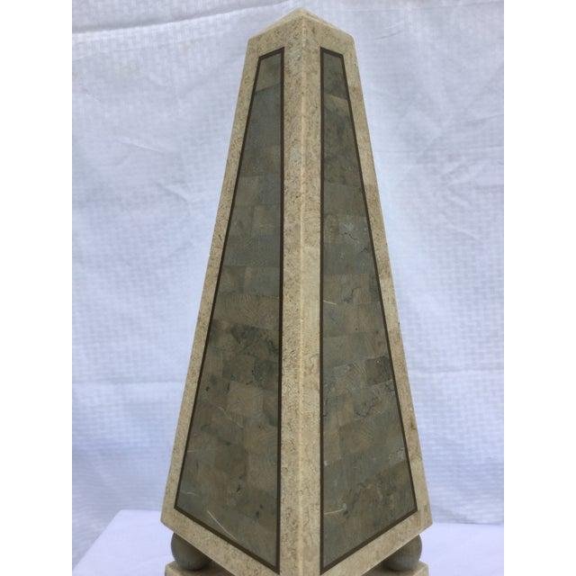 Maitland Smith Tessellated Stone Obelisk - Image 5 of 8