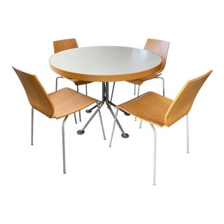 Zanotta Modern Dining Set - 5 Pieces For Sale