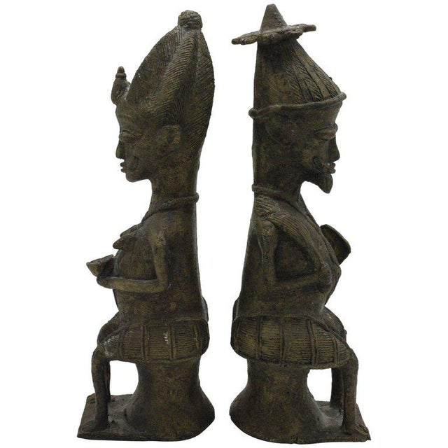 Yoruba Brass Figures for the Ogboni Cult, Nigeria - a Pair For Sale - Image 13 of 13