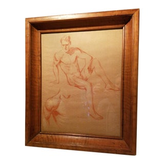Daniel MacMorris Male Nude Study Drawing