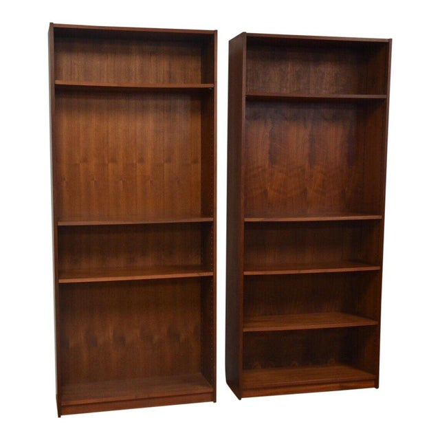 Large Walnut Bookcases- A Pair For Sale - Image 10 of 10