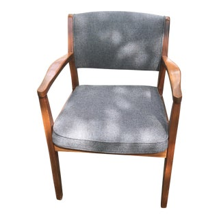 Mid-Century Modern Gray Upholstered Boling Chair