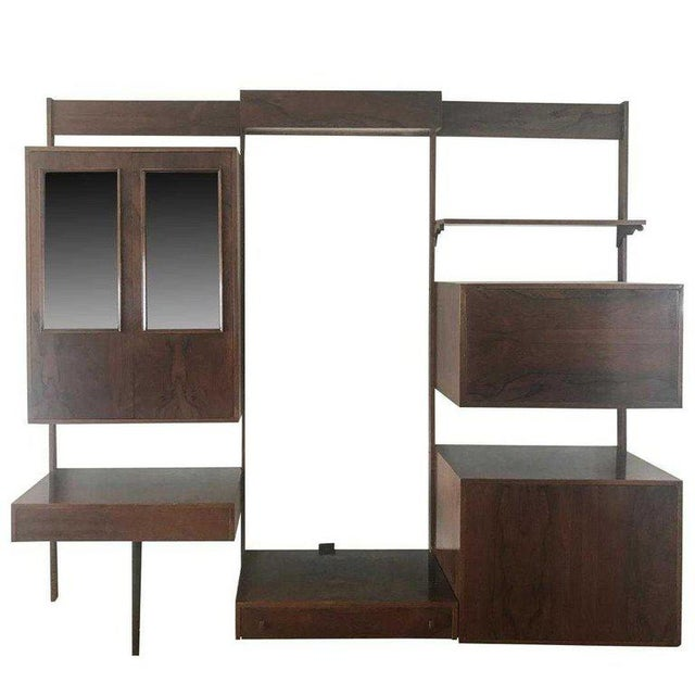 Midentury Rosewood Wall-Unit Including Table, Desk, Curio Cabinet and Light For Sale - Image 13 of 13