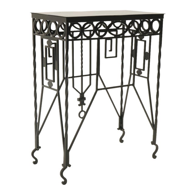 Arts & Crafts Wrought Iron Console Table For Sale