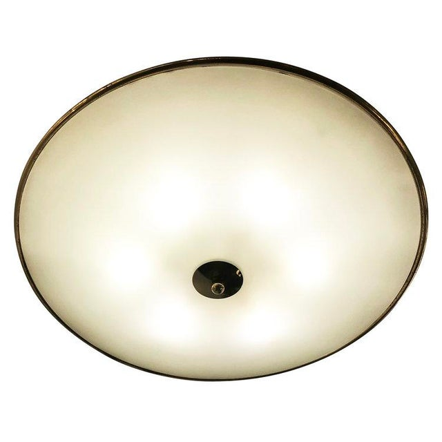 Italian 1940s Italian Large Flush Mount Fixture Attributed to Pietro Chiesa For Sale - Image 3 of 5