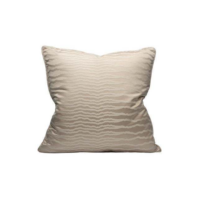 Traditional Desert Mirage Pillow, Platinum For Sale - Image 3 of 3