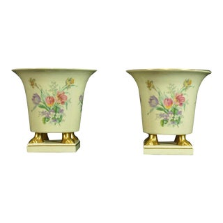 Vintage Cache Pots/Vases - a Pair For Sale