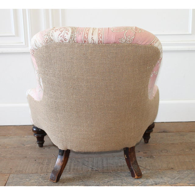 19th Century Napoleon III Button Tufted Chair For Sale - Image 11 of 12