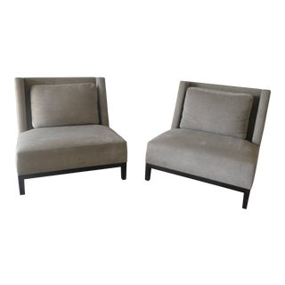 Holly Hunt Christian Liaigre Latin Lounge Chairs - a Pair For Sale