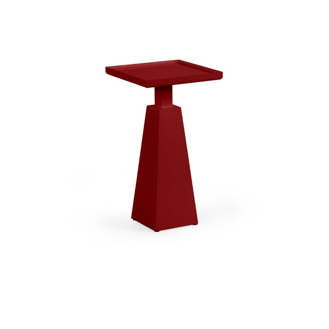 Transitional Casa Cosima Hayes Spot Table, Classic Burgundy For Sale - Image 3 of 3