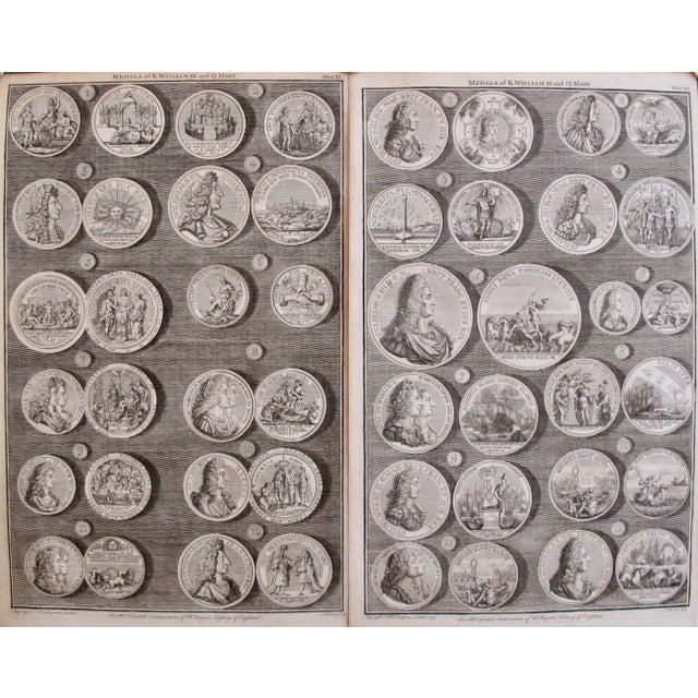 Original 1745 British Engravings, Royal Medals - A Pair - Image 9 of 9